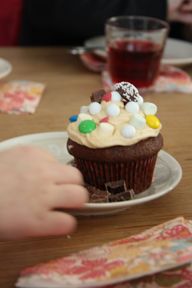 decorated cupcake
