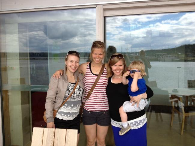 quality sister time: myself, Mari and Tin and Joa
