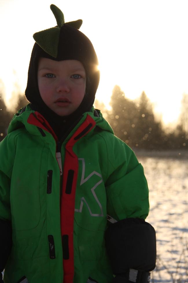 bella in the winter sun