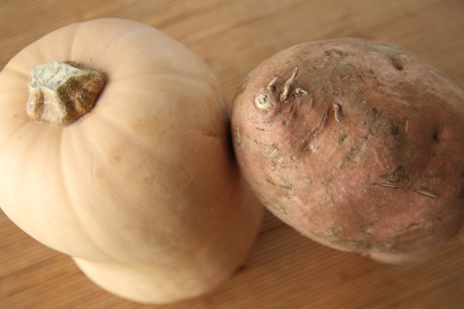 butternut squash and sweet potato