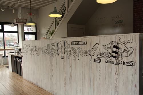 bagel mural