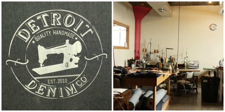 Detroit Denim, creating custom made denim jeans and products from delvedge denim