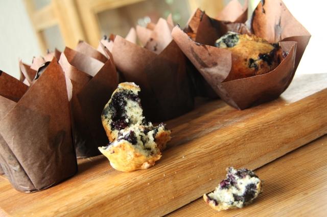 Grampa's blueberry muffins 3