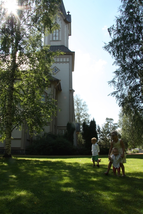 Hankasalmi Church yard
