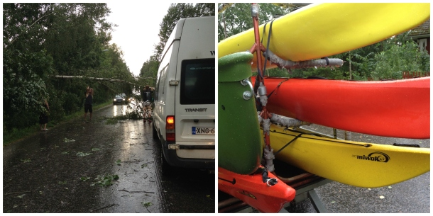 kayaking and the storm Collage