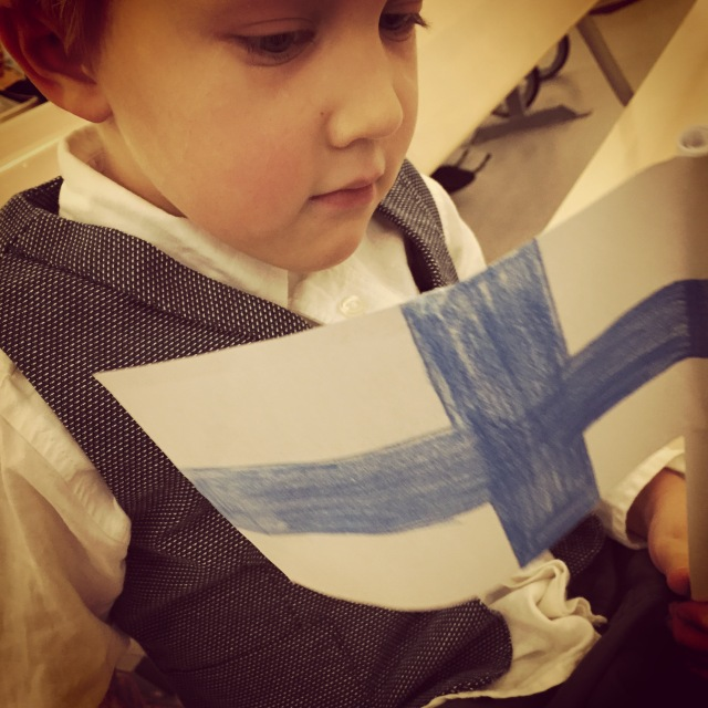 Finnish flag and independence day