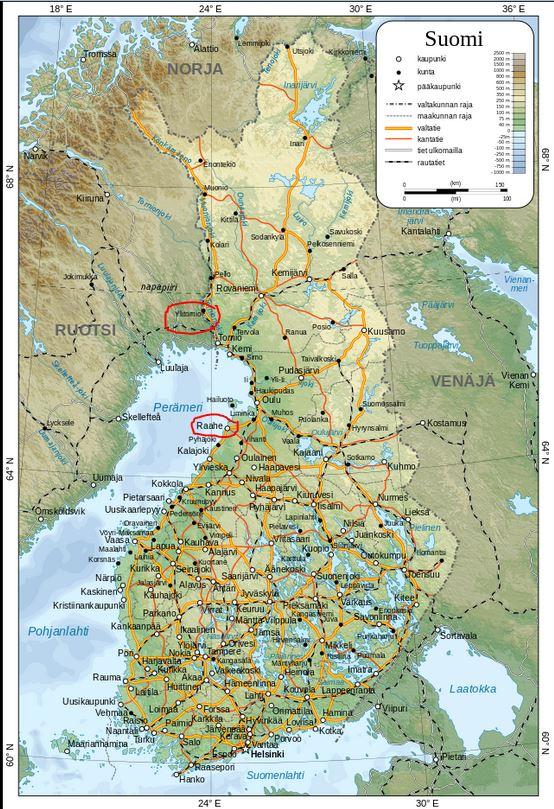 Suomen Kartta Tableofcolors