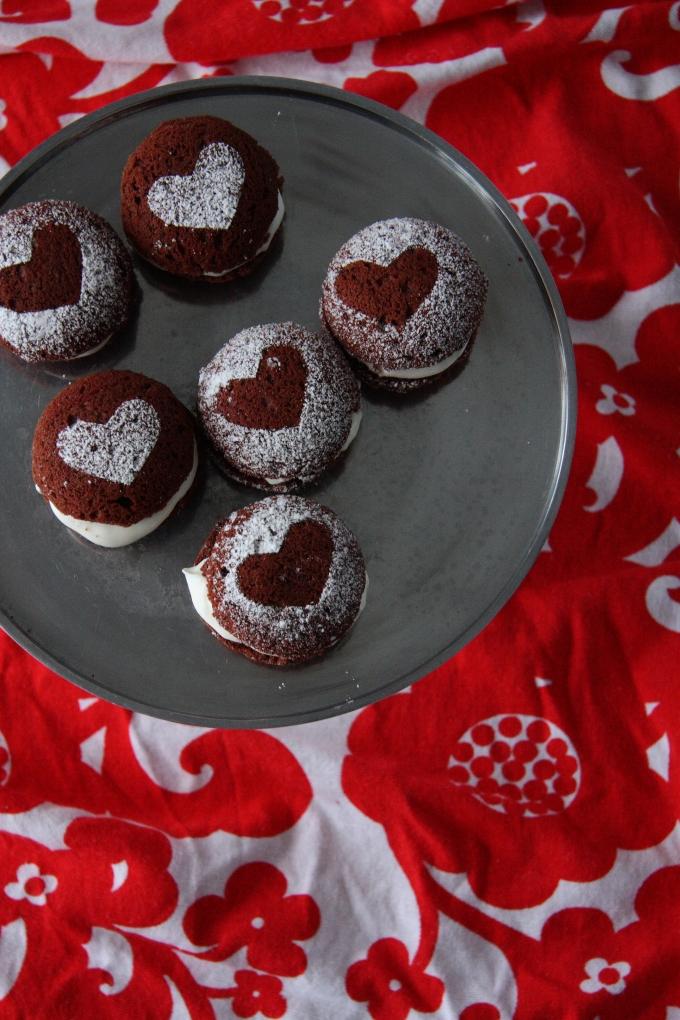valentines day whoopie pies