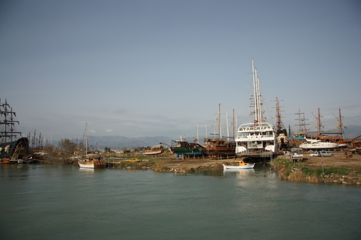 Shipyards along the Manavgat river