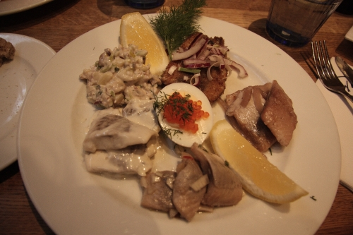 plate of pickled herring