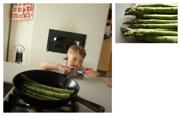 sautéing asparagus in coconut oil