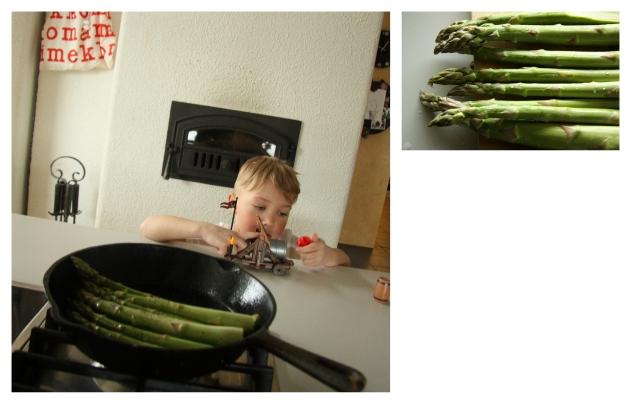 sautéing asparagus in coconut oil