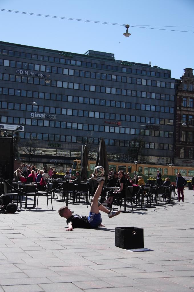 Street performers in Helsinki