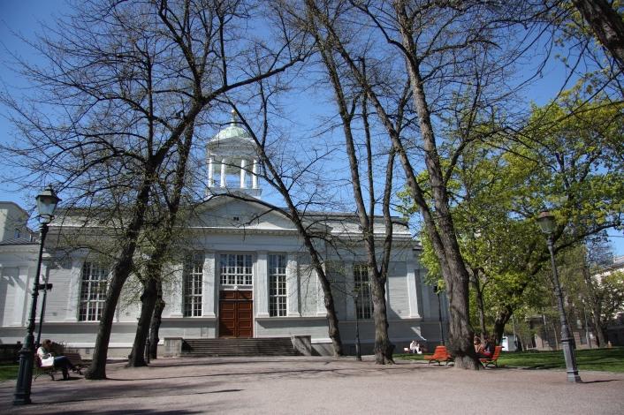 Vanha Kirkko  or Old Church taken in to use in 1826 and designed by Carl Ludvig Engel, Lönnrotinkatu 6