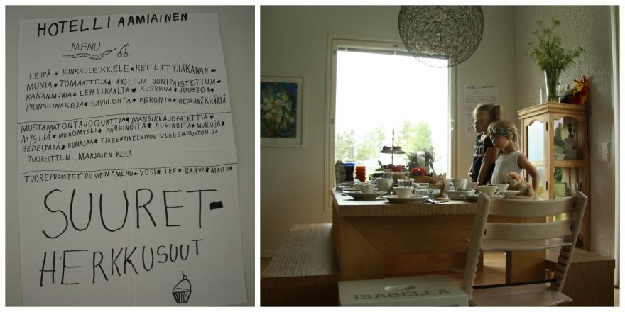 hotelli aamiainen suuret herkkusuut collage