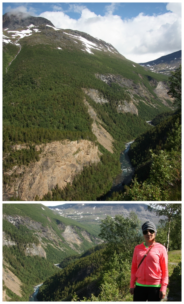 scandinavian mountains Collage
