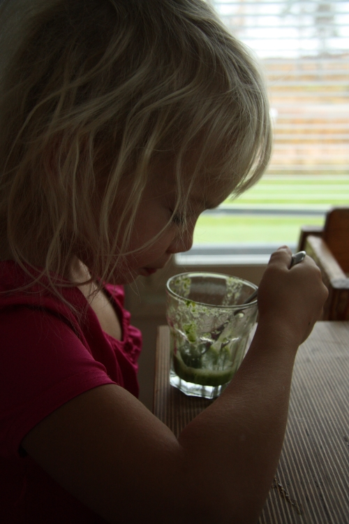 enjoying green smoothies