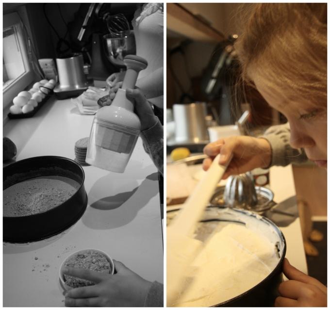 making no-bake mango cheesecake