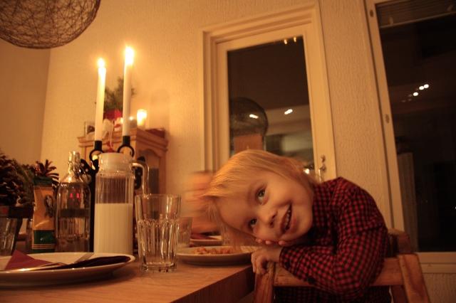 Hugo waiting for dinner