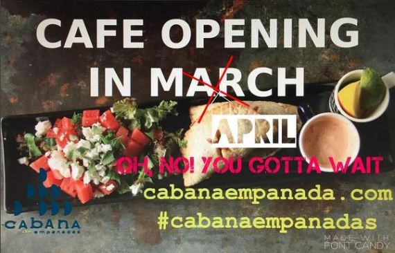 cabana opening in april