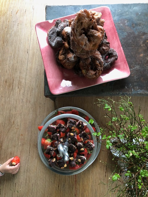 may day donuts and strawberries